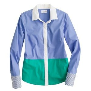 J. Crew Haberdashery Perfect Shirt in Colorblock